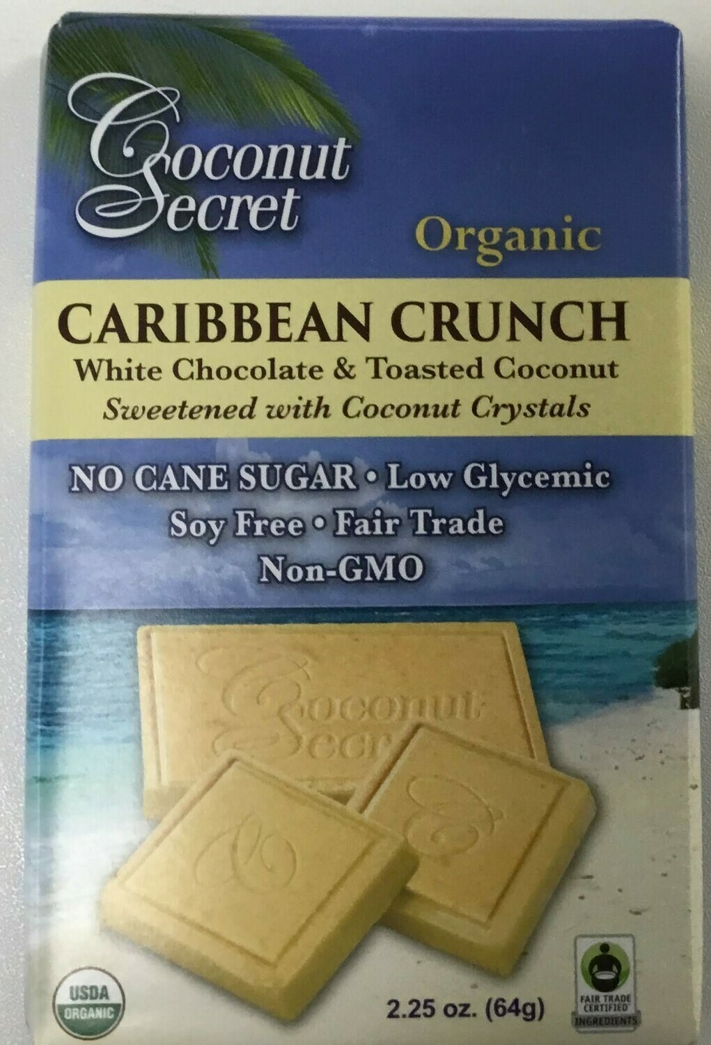 Coconut Secret Caribbean Crunch Bar- 25% off Sale!