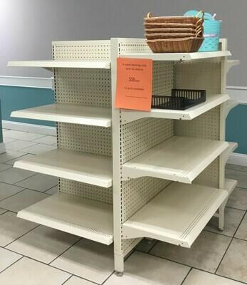 4 Sided Shelving Unit w/ 12 shelves