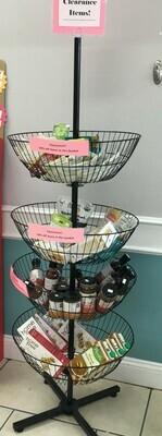 4 Basket revolving display rack