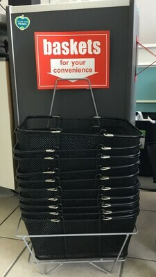 Shopping baskets -12 w/stand