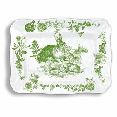 MDW Bunny toile tray