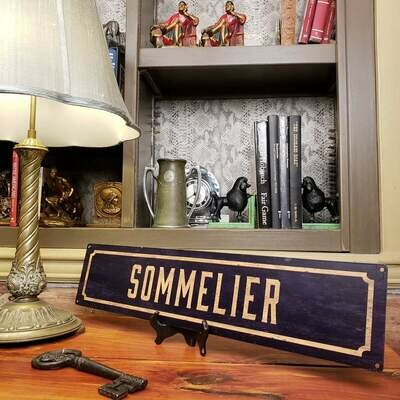 Sommelier Metal Street Sign 5