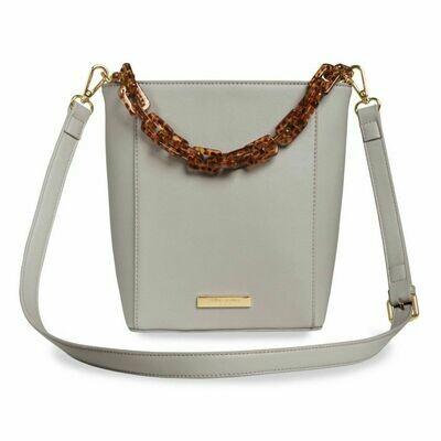 KL Ayla Tortoiseshell Strap Bag Grey