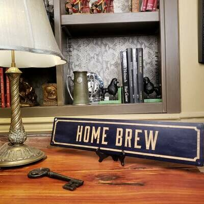 Home Brew Metal Street Sign