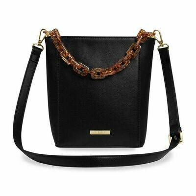 KL Ayla Tortoiseshell Strap Bag Black