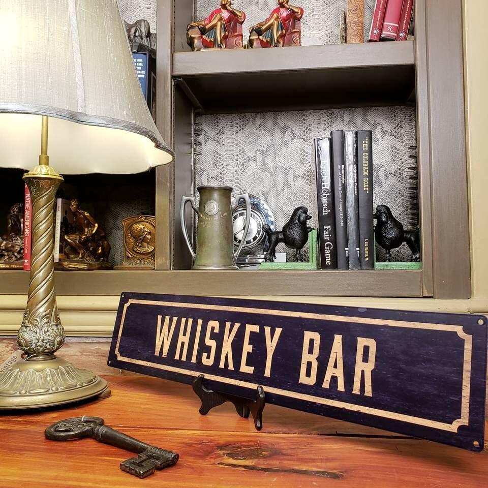 Whiskey Bar Metal Street Sign