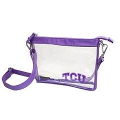 Crossbody Clear w/Purple TCU