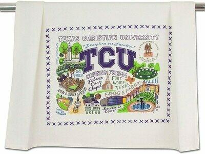 CS Dish Towel Collegiate TCU