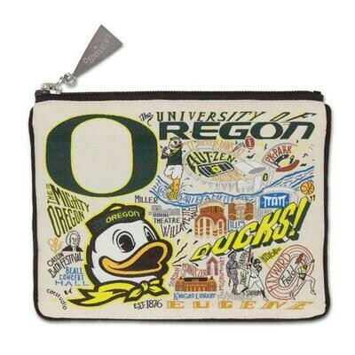 CS Zip pouch U of Oregon