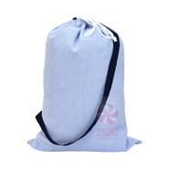 M Laundry Bag Navy Seersucker