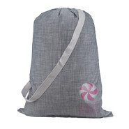 M Laundry Bag Grey Chambray
