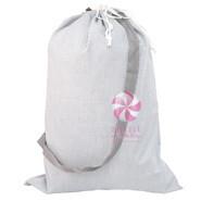 M Laundry Bag Grey Seersucker