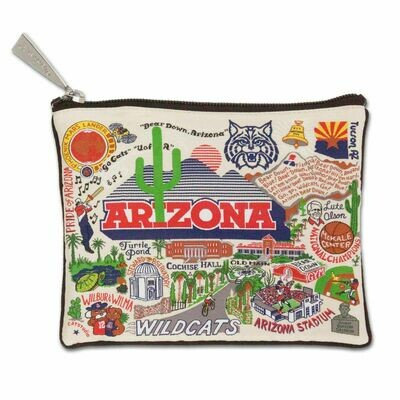 CS Zip pouch University of Arizona