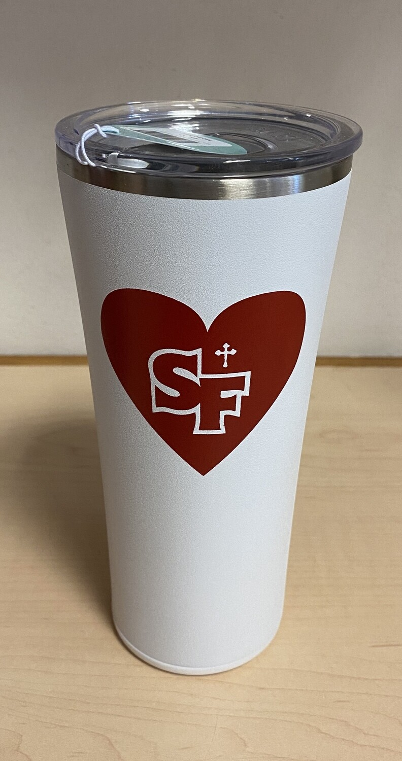 Swig Custom Tumbler White w/red SF