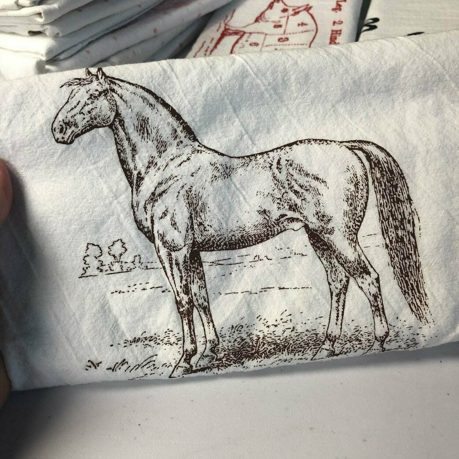 GB Brown Horse Tea Towel