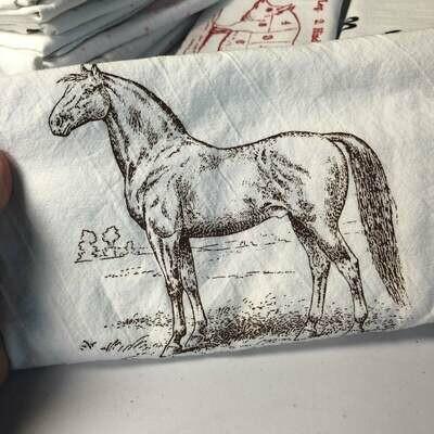 GB Brown Horse Tea Towel