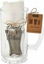 MP Beer Mug and Towel Set