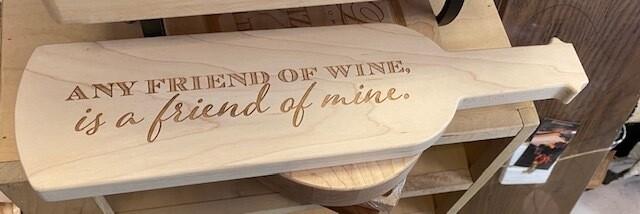 ML Wine Shaped Bread Board
