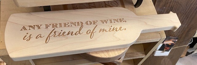 ML Wine Shaped Bread Board