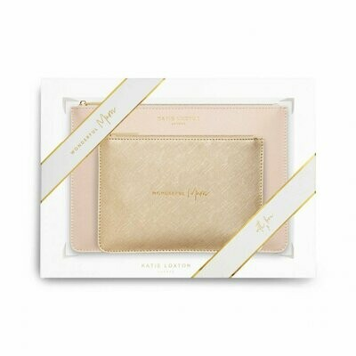 KL Perfect Pouch Set Wonderful Mom Gold