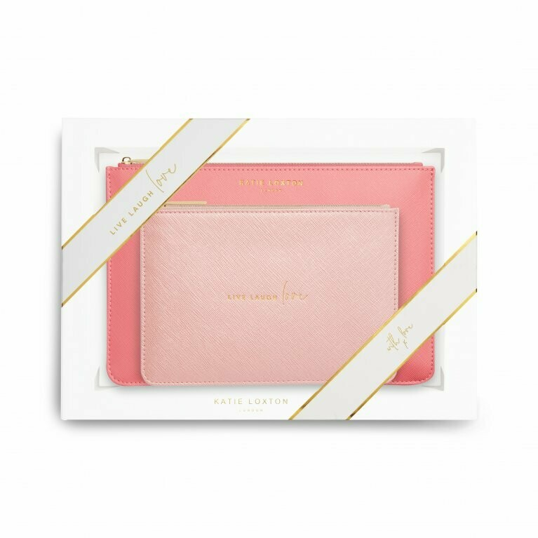 KL Perfect Pouch Set Live Love Laugh Pink