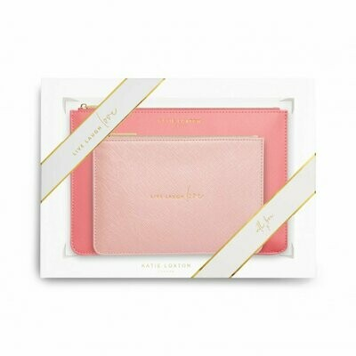 KL Perfect Pouch Set Live Love Laugh Pink