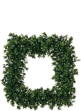 S Square Boxwood Wreath