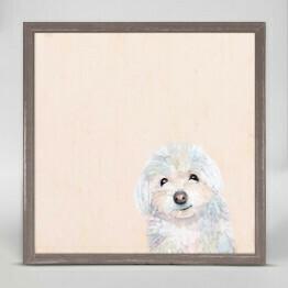 GBA Framed Small White Dog 6x6