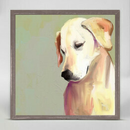 GBA Framed Yellow Lab 6x6