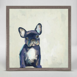 GBA Framed Frenchie Pup 6x6