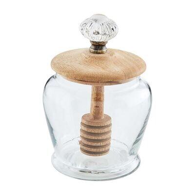 MP Glass Knob Honey Jar