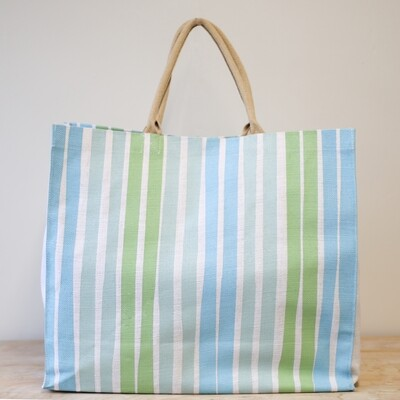 Aruba Carryall Tote in Turquoise/ Pastel Green