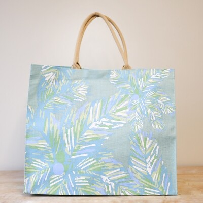 Panama Carryall Tote in Blue Glass