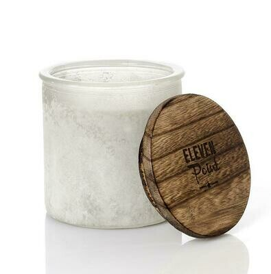 Eleven Point Candle - River Rock White - Wildflower