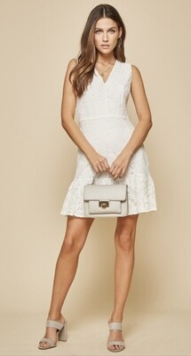 Lace Cambridge Dress in Ivory