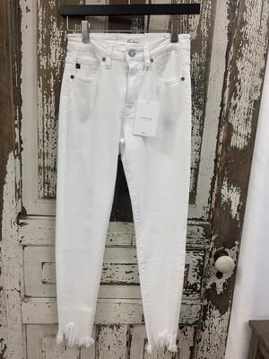 KanCan White Frayed Skinny Jeans