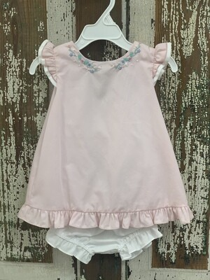 Sophie and Lucas Light Pink Swing Embroidered Dress Set