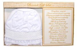 Christening Baby Bonnet