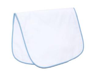 Blue Piping Burp Cloth