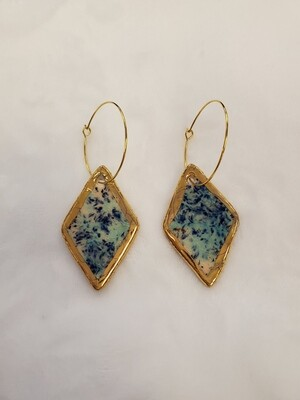 Jessi Mo's Ceramic Earrings- Northern Lights Glaze- 2 Options