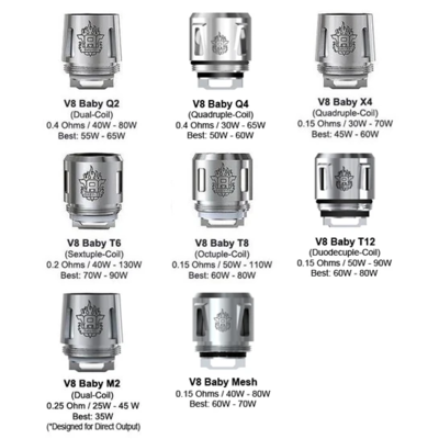 Smok TFV8 Baby T6 Coils 5-Pack