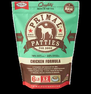 Primal Patties 6lb - Chicken