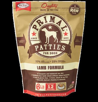 Primal Patties 6lb - Lamb
