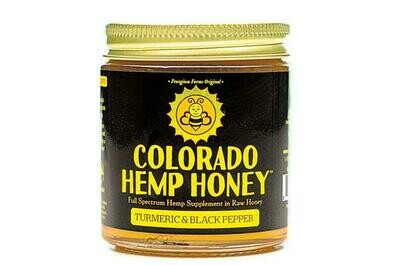Colorado Hemp Honey 6oz Jar - Turmeric & Black Pepper