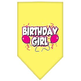 Birthday Girl Bandana- Small Yellow