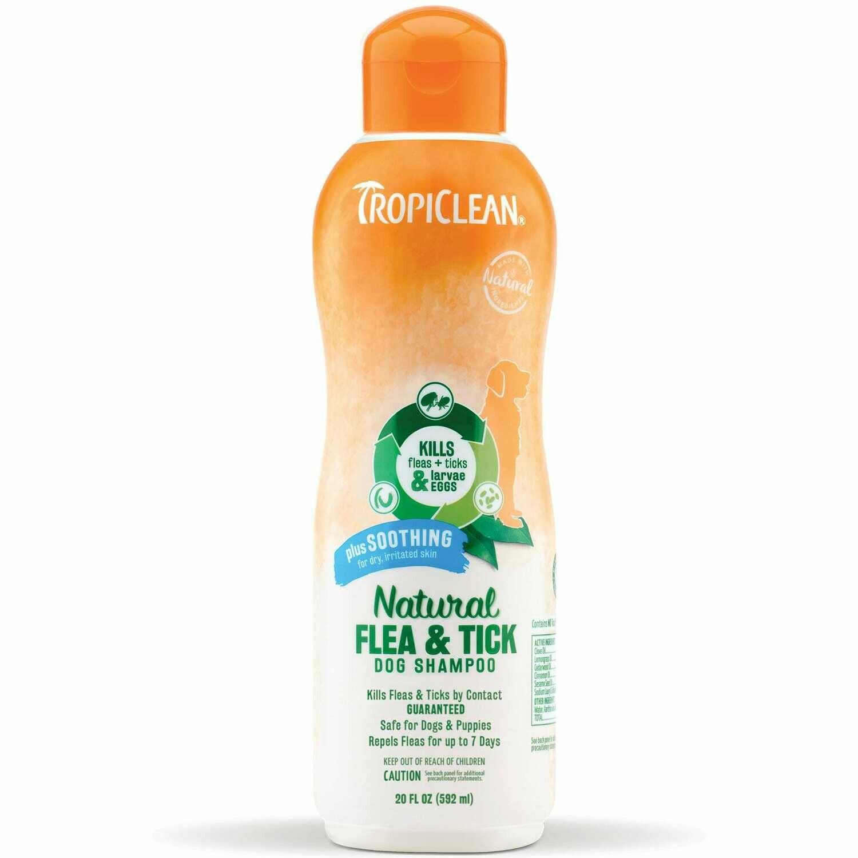 Tropiclean Flea and Tick - Shampoo + Soothing