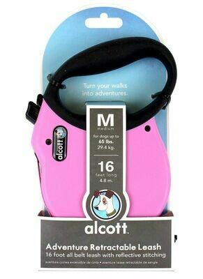 Alcott Retract Leash - M Pink