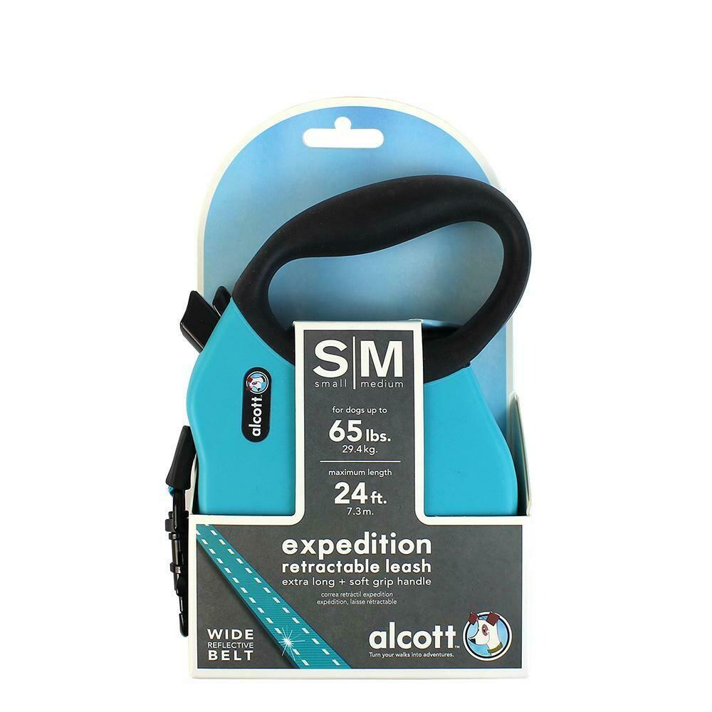 Alcott Retract Leash - M Blue
