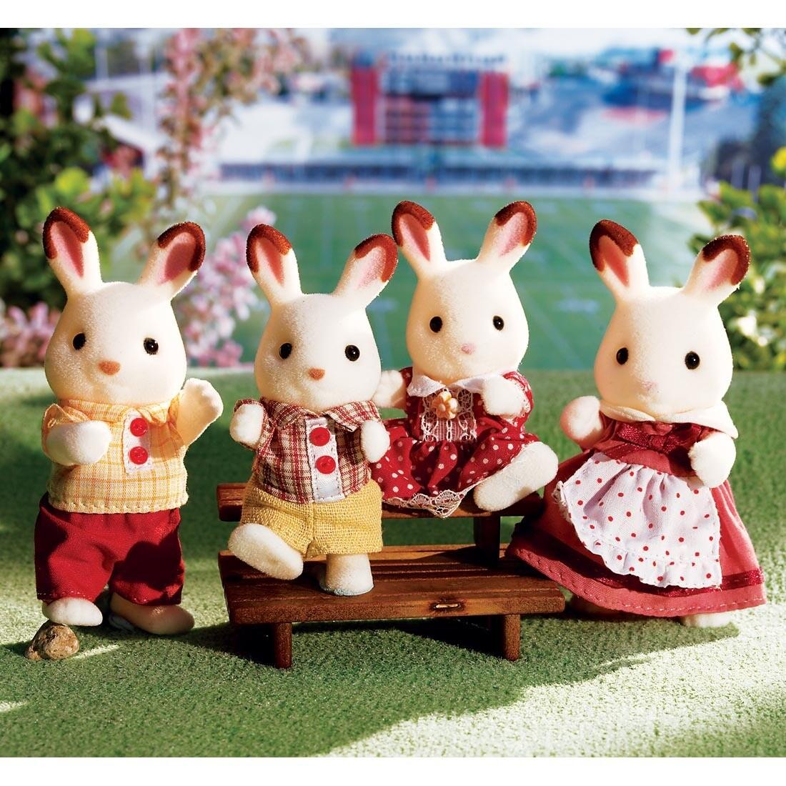 Calico Critter Hopscotch Rabbit Family