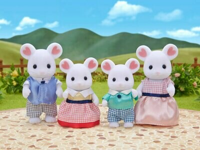 Calico Critter Marshmallow Mouse Family